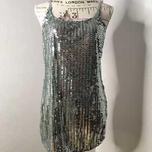 Day-trip Sequined Tank Top light blue